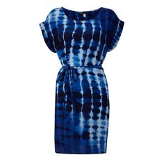 Silk Tribal Tease Dress Navy, $141.50, now featured on Fab.