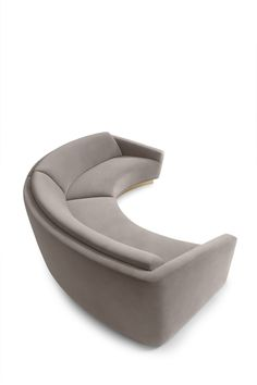 Elegant Curved Sofa Design and Pictures 42 - Awesome Indoor & Outdoor Upholstered Furniture, Furniture Decor, Modern Furniture, Furniture Design, Lobby Furniture, Furniture Logo, Steel Furniture, Furniture Online, Modern Sofa