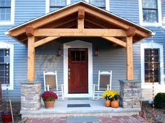 Homeowner and long-time client Tim, lended a hand as we raised the timber frame porch on his family home in Penfield NY.