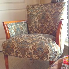 Love my grandmother's old chairs! #club #upcycle #vintage