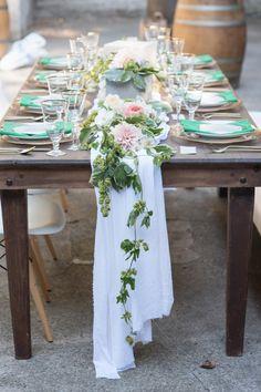 Modern meets rustic table decor: http://www.stylemepretty.com/california-weddings/aptos/2015/09/30/modern-elegant-wedding-inspiration-at-sand-rock-farm/ | Photography: Rahel Menig - http://www.rahelmenigphotography.com/