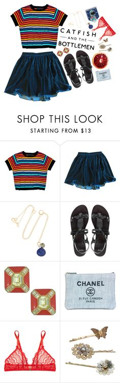 """Cocoon"" by attach ❤ liked on Polyvore featuring Cynthia Rowley, American Apparel, Melissa Joy Manning, ASOS, Vintage, Chanel, Mimi Holliday by Damaris and Monsoon"