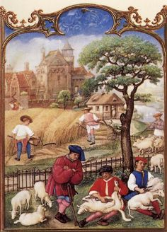Grimani Breviary: The Month of July - Flemish Miniaturist