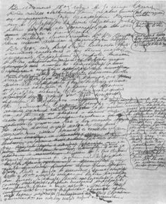 Lev Tolstoj's notes from the ninth draft ofWar and Peace, 1864.