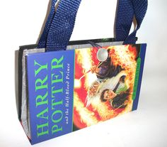Book Purse Harry Potter Half Blood Prince, Handmade Upcycled Women's Fashion Clutch Handbag by retrograndma on Etsy