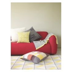 CROFTON Multi-coloured patchwork cushion 60 x 60cm