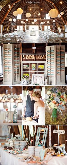 Erin & Dan - Blue Dress Barn Vintage Details