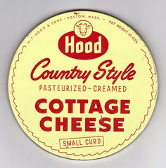 Hood - Country Style - Cottage Cheese - Vintage Label