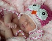 CreativeKiwi - ETSY - super adorable owl hats and crocheted baby booties. might not be in business currently.