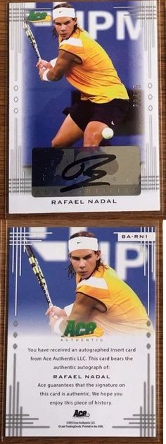 Tennis Cards 43371: Leaf Ace Authentic 2013 Rafael Nadal Auto Autograph Signature 35 -> BUY IT NOW ONLY: $144.99 on eBay!