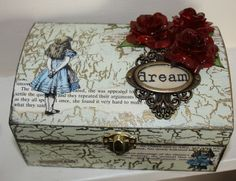 Hand Painted Alice In Wonderland Trinket Box, Jewellery Box, £22.00