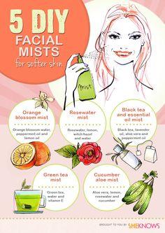 5 DIY facial mists