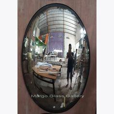 Antique Convex Mirror Vellia MG 050005 >> Venetian Mirror Manufacture Wholesale Size: 38 cm x 60 cm QTY : 2 Pcs Antique Mirror Glass, Venetian Mirrors, Main Door, Main Entrance, Convex Mirror, Wall Mirror, Surakarta, Wooden Cabinets, Concave
