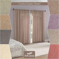 A Cortina Duplex Desert está disponível em oito opções de cores! A tarefa mais difícil será escolher uma só.