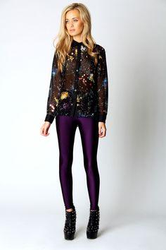 Carey High Shine High Waisted Disco Pants