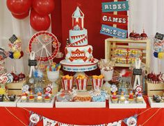 """Vintage Carnival / Birthday """"Vintage Carnival 1st Birthday Party""""   Catch My Party"""