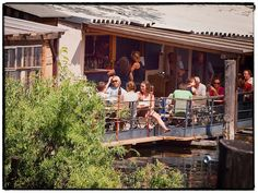Freischwimmer Berlin! Restaurant and Cafe on the River Spree - Sit on the canal side. In Kreuzberg