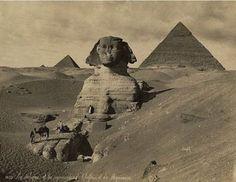 bonfils, Le sphynx et les pyramides de Cheffren et Mycérinus, Egypt, 1880