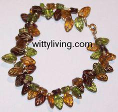 Autumn Leaves Beaded Bracelet