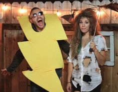 25 Genius DIY Couples Costumes LOL thought of you @Nicole Novembrino Novembrino Novembrino Coury