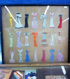 Framed paper dolls