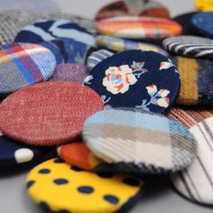 """When you order one of our """"Made-to-Order"""" @Gitmanvintage Shirts, you get one of these pinback buttons made in the same fabric as..."""
