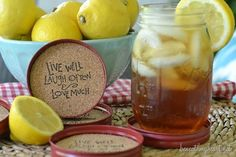 DIY Mason Jar Lid Coasters...What A Cute Clever Idea...Click On Picture For Link...