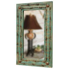 Turquoise Barbed Wire Mirror $269.95