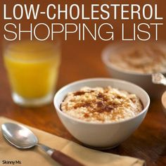 The One Food Cholesterol Cure - Low-Cholesterol Shopping List The One Food Cholesterol Cure: reveals one single ingredient responsible for all cholesterol plaque buildup in your arteries. And how to completely eliminate it without medications. Low Cholesterol Diet Plan, Lower Cholesterol Naturally, What Causes High Cholesterol, Lower Your Cholesterol, Cholesterol Levels, Cholesterol Symptoms, Cholesterol Friendly Recipes, Low Cholesterol Recipes Dinner, Diabetes Mellitus Typ 2