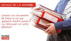 Classez vos documents de façon à ce que quelqu'un d'autre puisse s'y retrouver en votre absence ! Document, Facon, Offices, Card Holder, Cards, Command Centers, Other, Maps, Office Spaces