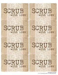 Free Sugar Scrub Labels  Create Labels Craft Gifts And Sugaring