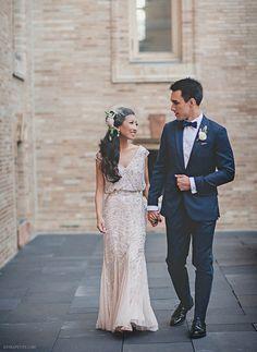 wedding champagne reception dress aidan mattox