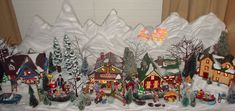 Image result for miniature christmas village displays