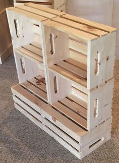 rustic wood stacking crate box retail display store, farmers market display stand