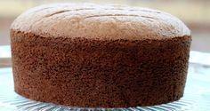 Josephine's Recipes : Chocolate Sponge Cake with Ganache Recipe Sponge Cake Recipes, Easy Cake Recipes, Dessert Recipes, Sponge Cake Easy, Chocolate Chiffon Cake, Chocolate Sponge Cake, Chocolate Genoise Cake Recipe, Chocolates, Food Cakes