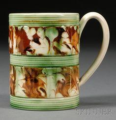 Mochaware Slip-marbled Mug
