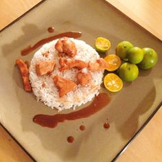 Easy recipe for lunch or dinner! Just add calamansi juice, soy sauce, garlic, ginger, and salt and pepper to your chicken and rice.