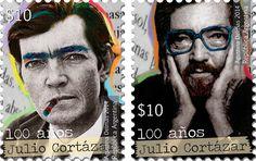 """Emisión postal """"Cortázar con sello propio"""", que sirve de homenaje al escritor de Rayuela"""