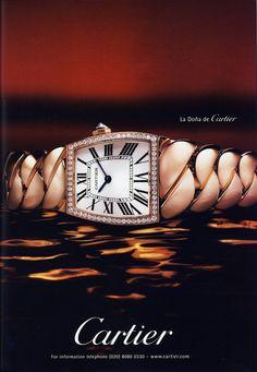Advertisement // Cartier timepiece