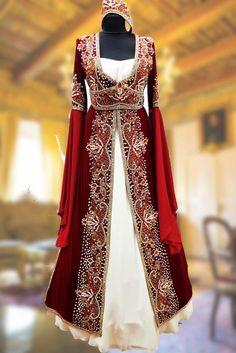 Kadife Özel Dikim Bindallı Kına Elbisesi 0023
