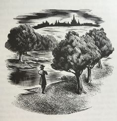 Illustration by Agnes Miller Parker from Thomas Hardy's 'Jude the Obscure'