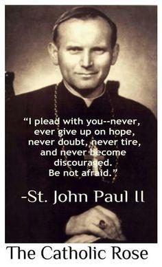 Pope John Paul II, Jan Paweł II- served almost 32 years as Roman Catholic Church Pope. He spoke fluently 8 languages. Catholic Quotes, Catholic Prayers, Catholic Saints, Religious Quotes, Roman Catholic, Catholic Beliefs, Catholic Readings, Saint Jean Paul Ii, Pope Francis