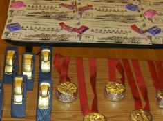 Pinewood derby: Awards for each boy ...certificate - trophy - medal