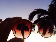 Aruba through sun-bright-glasses