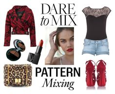 """""""Pattern mix"""" by blackqueen08 ❤ liked on Polyvore featuring Dorothy Perkins, Rock & Republic, Christian Louboutin, Emilio Pucci, Vivienne Westwood, The Body Shop, NARS Cosmetics and patternmixing"""