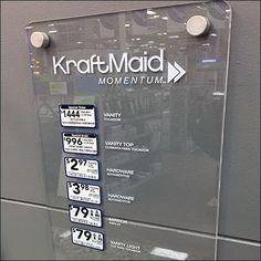 KraftMaid Acrylic Plaque Bath Pricing – Fixtures Close Up Acrylic Plaques, Visual Merchandising, Bath, Bathing, Bathroom, Bathtub, Bath Tub, Bathrooms