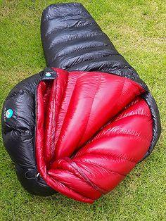 Black crag luxury down bag, super shiny nylon and very puffy. Best Sleeping Bag, Mummy Sleeping Bag, Down Sleeping Bag, Sleeping Bags, Nylons, Down Quilt, Vinyl Clothing, Womens Wetsuit, Winter Gear