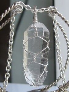 The last 6 hours of the giveaway! Quartz pendant wire wrapped in sterling silver Wire Wrapped Pendant, Wire Wrapped Jewelry, Wire Jewelry, Unique Jewelry, Stone Pendants, Wire Wrapping, Giveaway, Quartz, Chain