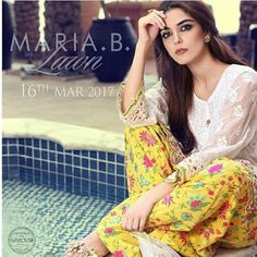 Maria b Summer Lawn Print Dresses 2017 Collection for Women