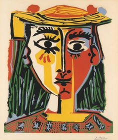 Picasso in The Metropolitan Museum of Art: Woman in a Hat with Pompoms and a Printed Blouse, 1962
